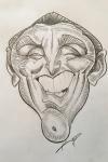 KIRK DOUGLAS Karikatur by Kasli