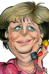 Angela Merkel Karikatur