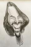 Keanu Reeves Karikatur by Kasli