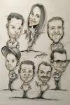 Gruppen Karikatur