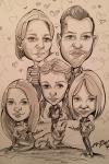 Familie Karikatur von Fotos