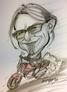 Karikatur vom Foto