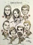 Gruppen Karikatur vom Foto