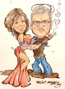 Karikatur von Foto
