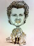 Karikatur als König